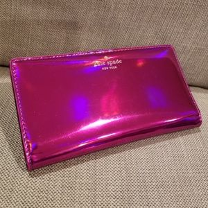 Kate Spade rainer lane holographic stacy wallet